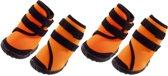 Ferplast hondenschoenen trekking oranje / zwart  9X8X14CM