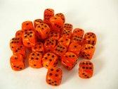 Chessex dobbelstenen set, 36 6-zijdig 12 mm, Vortex orange w/black