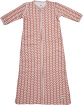 Meyco Knitted Heart Slaapzak met afritsbare mouw - 110 cm