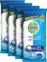 Dettol Multi-Reiningingsdoekjes Power&Fresh Ocean 4 x 80 stuks