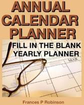 Annual Calendar Planner