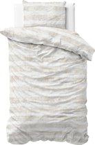 Sleeptime Flanel Mari - Dekbedovertrek - Eenpersoons - 140 X 200/220 + 1 kussensloop 60x70 - Zand