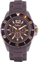 Colori Classic Chic 5 COL250 Horloge - Siliconen Band - Ø 44 mm - Paars