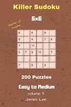 Master of Puzzles - Killer Sudoku 200 Easy to Medium Puzzles 6x6 Vol. 9