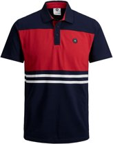 Jack & Jones Poloshirt - Maat 128  - Jongens - blauw/rood/wit