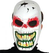Halloween - Horror skelet masker met lange tanden