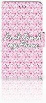Nokia 7 Uniek Boekhoesje Flowers Pink DTMP