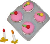 Stoffen speelgoed high tea set