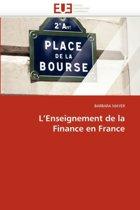 L''enseignement de la Finance En France