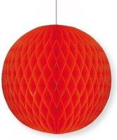 Papieren decoratie bol rood 10 cm