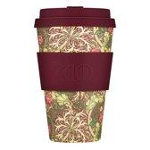 Ecoffee Cup Bamboe Beker - 400 ml WM Seaweed met Maroon Siliconen