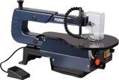 FERM Figuurzaagmachine met variabele snelheidsinstelling, voetpedaal, 120W - incl. 6 zaagbladen