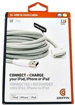 Griffin Technology XL USB to DOCK cable / kabel voor IPAD / IPOD / Iphone 3 meter