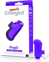 The Screaming O Charged FingO Vooom Mini Vinger Vibrator - Paars - Vibrator