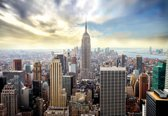 Fotobehang City Skyline Empire State New York | XL - 208cm x 146cm | 130g/m2 Vlies
