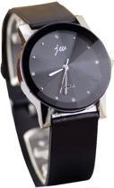 JW dames Horloge zwart I-deLuxe verpakking
