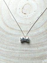 Ashanger sterling zilver 925 hondenbot, assieraad