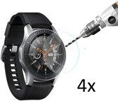 4X Tempered Glass Screen Protector Voor Samsung Galaxy Watch 46 MM - Ultradun Gehard Glas Set