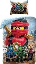 Lego Ninjago Red Dekbedovertrek - Eenpersoons - 140x200 cm - Multi
