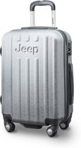 Jeep Makalu 55x35x23cm - Handbagage koffer - 4 Wielen - Zilver/Grijs