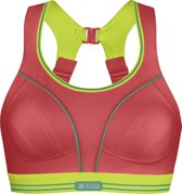 ShockAbsorber Ultimate Run Bra - Sportbeha - Red / Lime - 70E