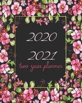 2020-2021 Two Year Planner: Red Floral, 24 Months Planner Calendar Track And To Do List Schedule Agenda Organizer January 2020 to December 2021 Wi