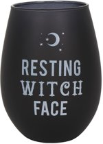 "Green Tree Wijnglas ""Resting Witch Face"""