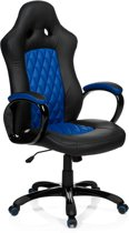 hjh office Racer Executive - Bureaustoel - PU Leder - Zwart / blauw