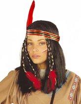"""""""Indianen pruik voor vrouwen - Verkleedpruik - One size"""""""