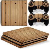 Wood Brown - PS4 Pro Console Skins PlayStation Stickers
