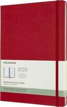Moleskine Agenda - 12 Maanden - Wekelijks - XL (19x25cm) (19x25cm) - Rood - Harde Kaft
