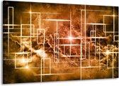 Canvas schilderij Abstract   Bruin, Wit   140x90cm 1Luik