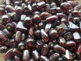 Glaskralen / kralen luster bruin ca. 1000 gram
