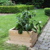 Modulaire houten plantenbak van duurzaam larikshout | L 57 x B 57 x H 25 cm