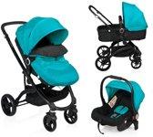 Little World City Walker Combi Kinderwagen Zwart-Blauw (incl. autostoel)