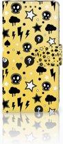 LG G6 Uniek Boekhoesje Punk Yellow