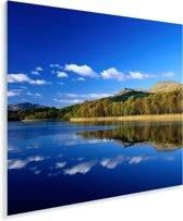 Weerspiegeling van de bergen over het meer van Loch Lomond in Schotland Plexiglas 90x90 cm - Foto print op Glas (Plexiglas wanddecoratie)