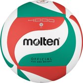 Molten Volleybal V5m4000 Groen/wit/rood Maat 5