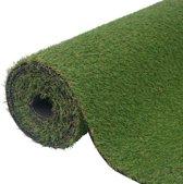 vidaXL Kunstgras 1 x 8 m / 20 - 25 mm groen