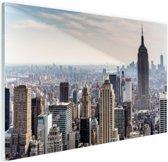 New York City Skyline Glas 90x60 cm - Foto print op Glas (Plexiglas wanddecoratie)