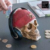 Gadget and Gifts Piratenschedel met Oordopjes Spaarpot