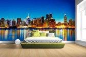 New York Skyline nacht Fotobehang 380x265