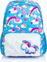 Minions Fluffy Unicorn Eenhoorn Rugzak met Fluffy voorvak 6-12 Jaar