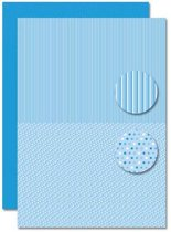 Decoupage Vel - Tweezijdig - Lichtblauw - Baby Jongen-Stippen