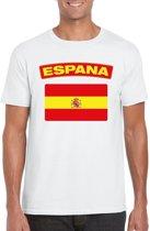 Spanje t-shirt met Spaanse vlag wit heren M
