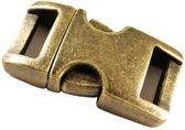 Paracord  metalen buckle / sluiting - Bronze - 40mm- 3 stuks