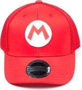 Nintendo - Mario Curved Bill Trucker Kids Cap - Pet - Rood