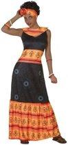 Afrikaans verkleed jurk/set dames - carnavalskleding - voordelig geprijsd M/L (38-40)