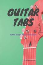 Guitar Tabs Blank Sheet Music Notebook