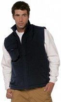 Outdoor/werk casual bodywarmer zwart voor heren - Outdoorkleding/werkkleding - Mouwloze vesten L (40/52)